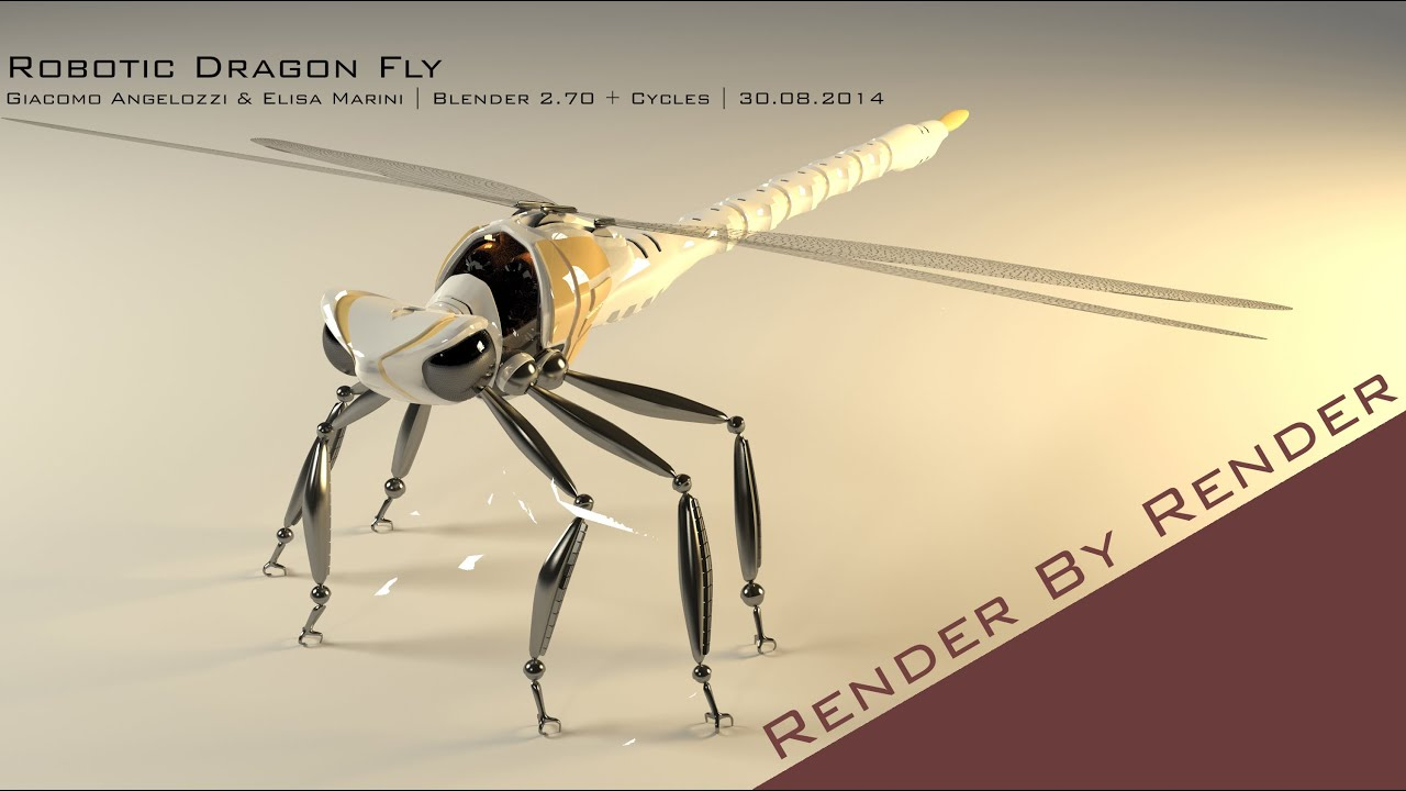 blender scifi robotic dragonfly youtube