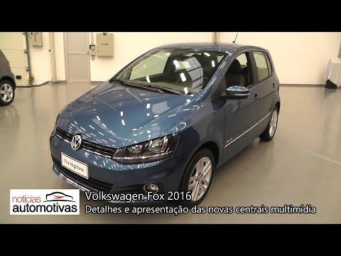 Volkswagen Fox 2016 - Detalhes e apresentação das centrais multimídia - NoticiasAutomotivas.com.br