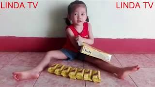 Dạy bé tập đếm số và hát bài hát thiếu nhi ĐÊM QUA EM MƠ GẶP BÁC HỒ. Linh đan ăn Bánh GOUTE