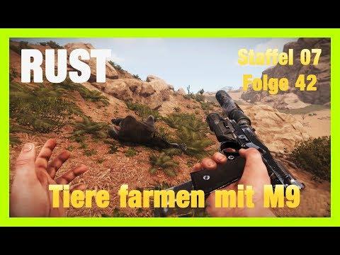 RUST S07 (CUT) Deutsch/German Lets Play #Folge 42 TIERE FARMEN MIT M9 + HELI GAMEPLAY/DEUTSCH