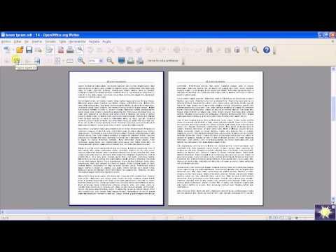 OpenOffice - Writer - Encabezado y pié de página
