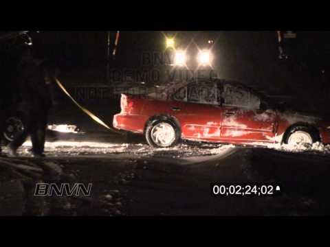 2/08/2010 Winter Storm Travel Hazard Stock Video Footage