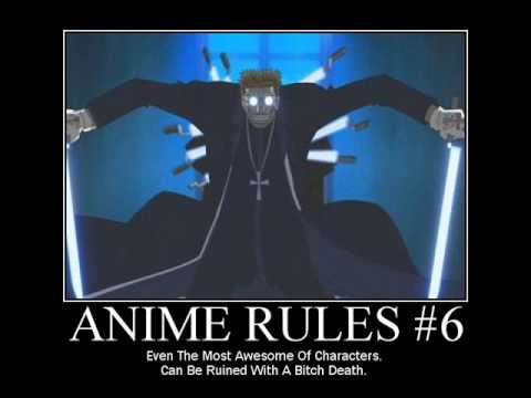 Demotivators Rules of Anime