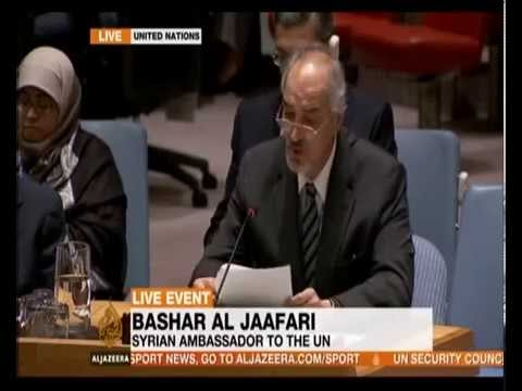 US Syria Air Strikes: Syrian Ambassador Bashar Al Jaafari Speech At UN Security Council Al Jazeera