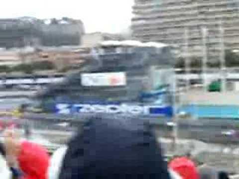 2008 Monaco Grand Prix. First lap from grandstand O