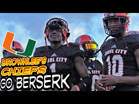 OH MY Miami Carol City Chiefs open a can on Columbus 35-0 first half