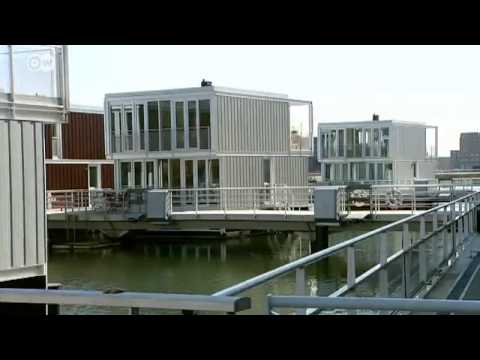 modern houseboats in the netherlands euromaxx youtube. Black Bedroom Furniture Sets. Home Design Ideas