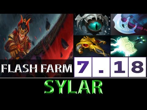 刘嘉俊 Sylar [Juggernaut] Flash Farm Game ► Dota 2 7.18