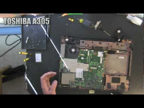 TOSHIBA A305 laptop take apart video. disassemble disassembly