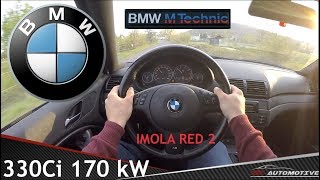 BMW 330Ci (E46) 2002 M-Technic POV Test Drive + Acceleration 0 - 200 km/h