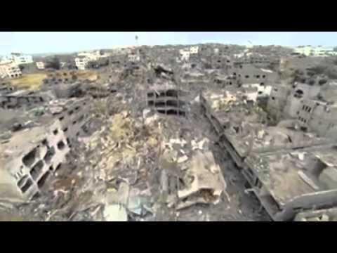 Gaza strip has been destroyed by israelis terrorists