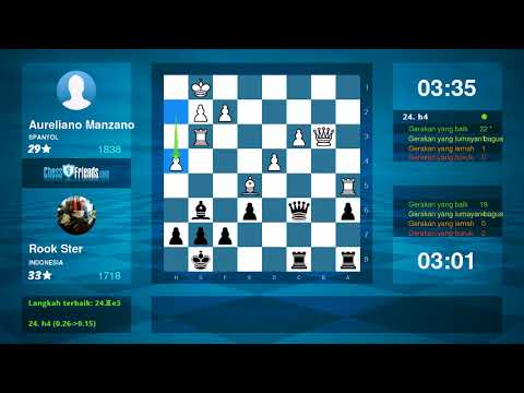 Chess Game Analysis: Aureliano Manzano Rook Ster : 01 (By ChessFriends.com)