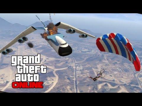 GTAV Online - ps3 - Cargo Plane/Blimp Antics n Stunts! - 2/17/14