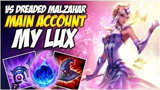 MY LUX VS DREADED MALZAHAR - With Bonus Pokemon talk! - Climb to Master S8 | League of Legends