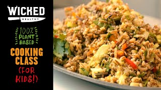 Ch.2 - Vegan Wild Rice Salad | Plant-Based Cooking Class | Wicked Healthy Kids