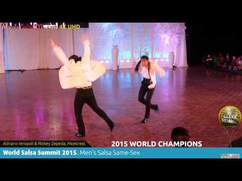 Wss15 Feb7. Men's Salsa Same Sex World Champions Adriano Ieropoli & Rickey Zepeda. Rec 4k Uhd. video