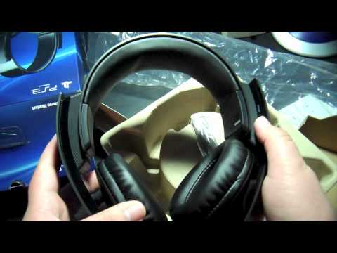 Unboxing Official Sony PS3 Wireless Headset (7.1 Surround Sound + Mic)