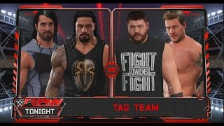 WWE 2K17-Seth Rollins & Roman Reigns vs Kevin Owens & Chris Jericho -Tag Team Match(PS4)