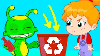 Образовательные мультфильмы Groovy Марсиани | Простая переработка отходов для детей