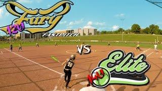 HD 1080p 12u Fury Fastpitch Vegas vs 14u Norton Elite softball game