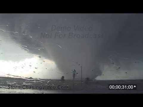 5/28/2011 Bennington, KS Tornado - POV Stock Footage