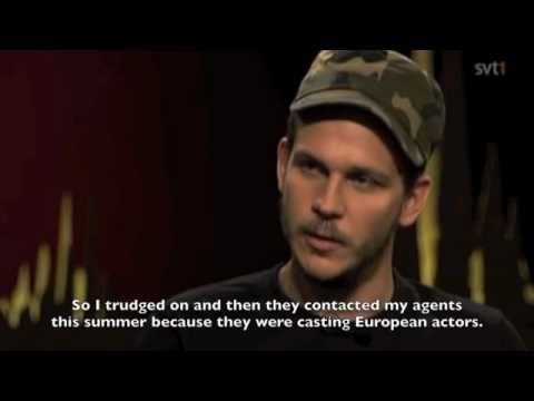 Gustaf Skarsgrd on Skavlan (subtitled)