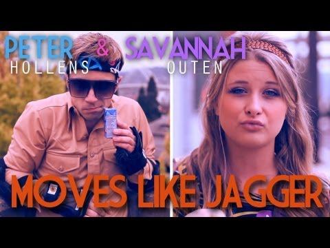 Moves Like Jagger - Peter Hollens - Savannah Outen - (Maroon...