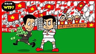 Bức tranh đẹp nhất của Văn Thanh U23 Việt Nam trong trận bán kết với Qatar! Draw WTF