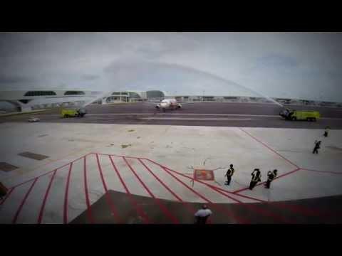 1st Airasia aircraft arrival at klia2