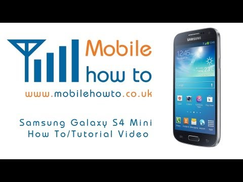 How To Insert & Remove SIM Card - Samsung Galaxy S4 Mini