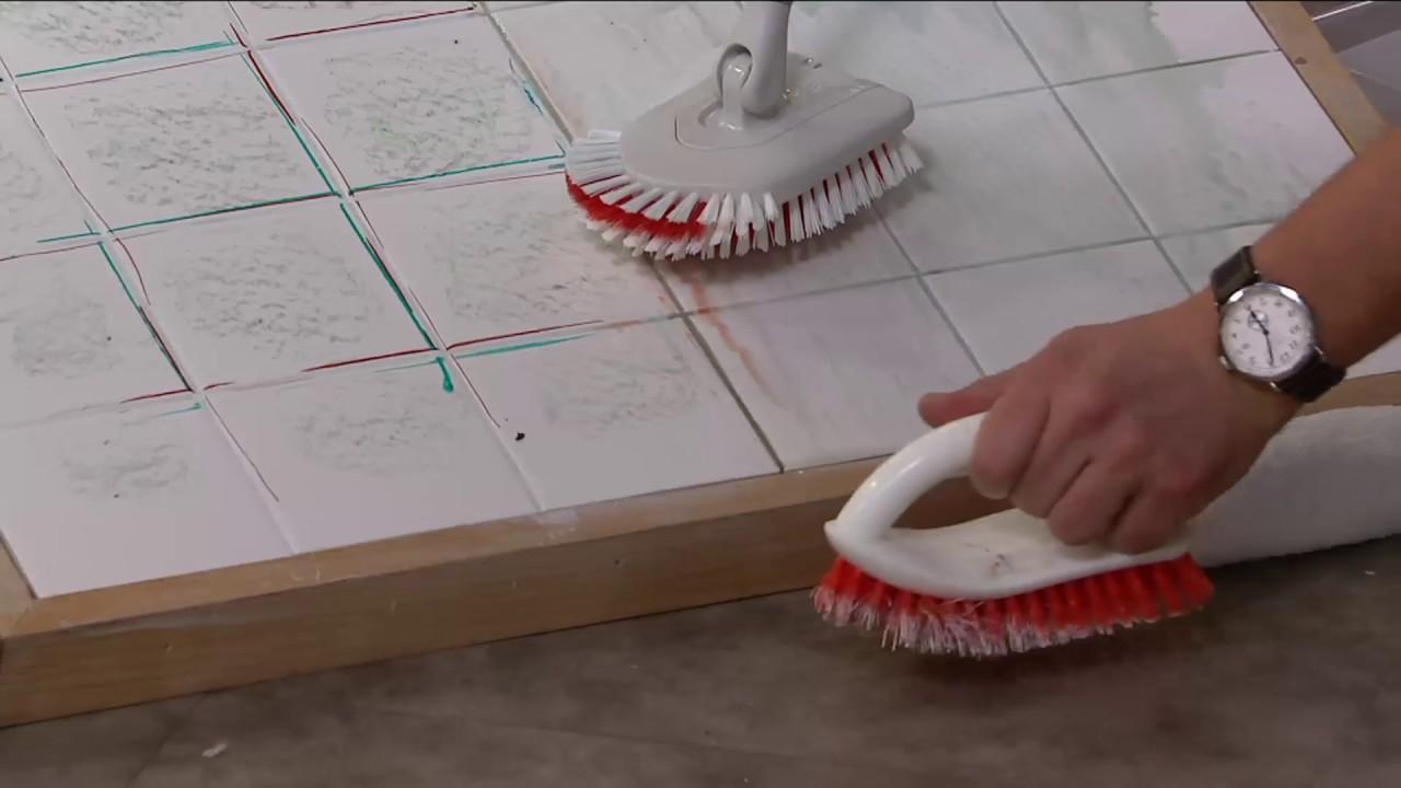 Home tile floor scrubber
