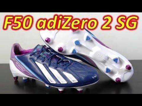 Adidas F50 adizero miCoach 2 SG Leather Dark Blue - Unboxing + On Feet