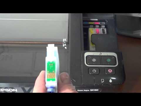 Como Cambiar y resetear cartuchos reseteables Epson T1281 T1291 bx305f