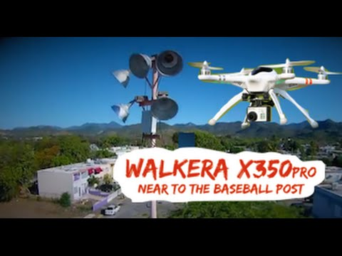 Walkera QR X350pro near to the baseball post