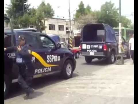 Fuerte Operativo Policiaco en Santa Barbara-Azcapotzalco.