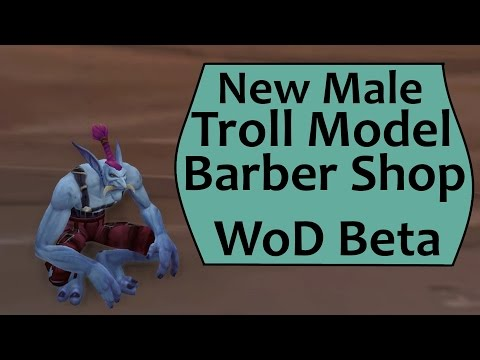 Male Troll Barber Shop Hair/Tusk/Paint Options in WoD: Warlords of Draenor Beta