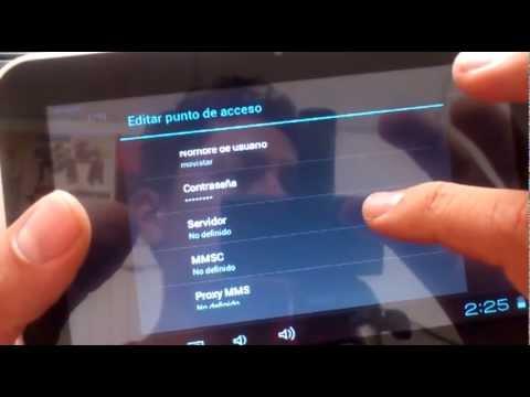 Tablet Woo Configuración Internet Móvil (Colombia)