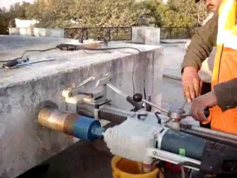 Anulab Ndt Test On Concrete Core Extraction From Rcc