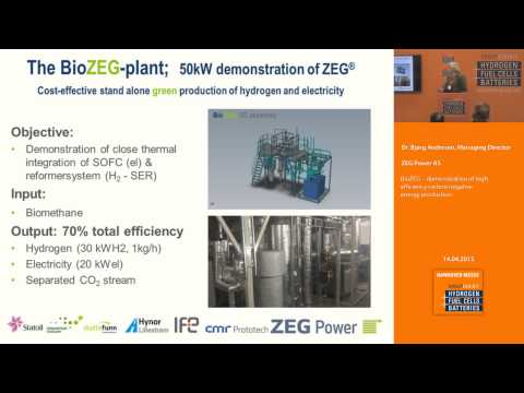 BioZEG – demonstration of high efficiency carbon negative energy production