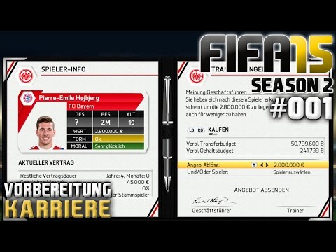 FIFA 15 KARRIERE (SEASON 2) #001: Die Vorbereitung «» Let's Play FIFA 15
