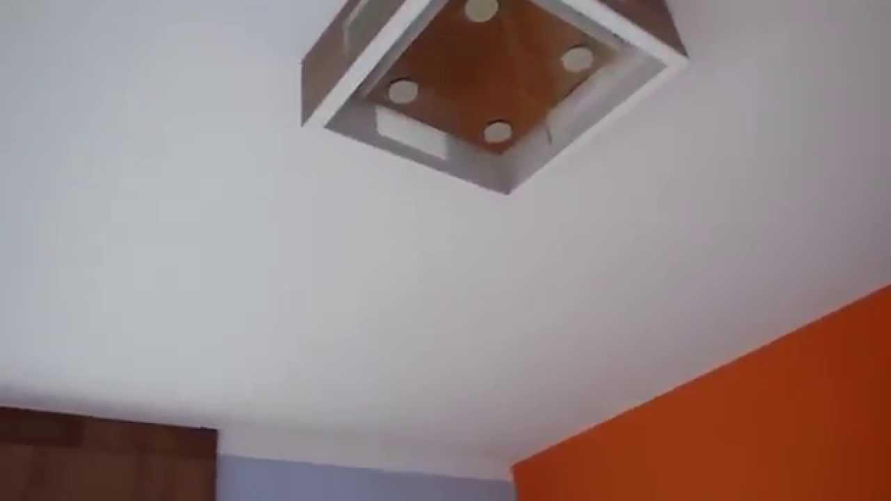 Lampara de techo casera habitacion youtube - Lamparas para techo ...