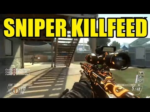 BLACK OPS 2 SNIPER KILLFEED | Call of duty