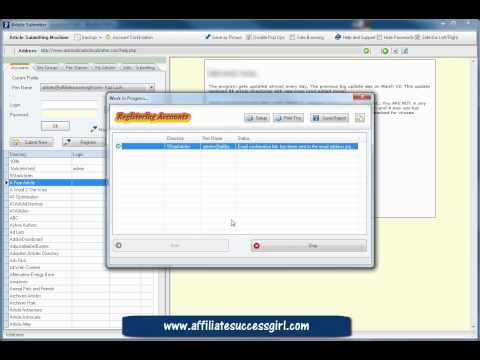 0 Article submitting software Automatic Article Submitter Pt 2