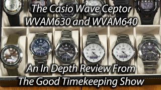Casio Waveceptor Watches WVA-M640 and WVA-M630 In-Depth Review