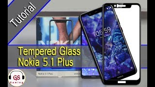 Cara Memasang Tempered Glass / Screen Protector Pada Nokia 5.1 Plus