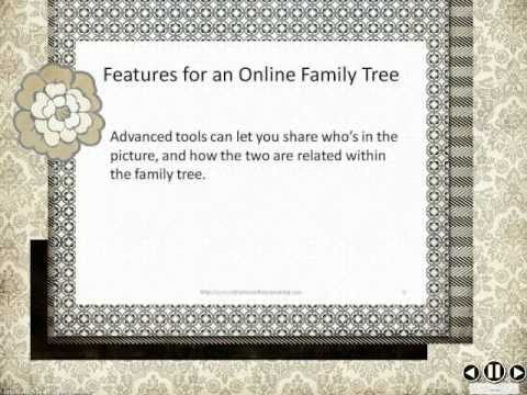 Features for Your Online Family Tree