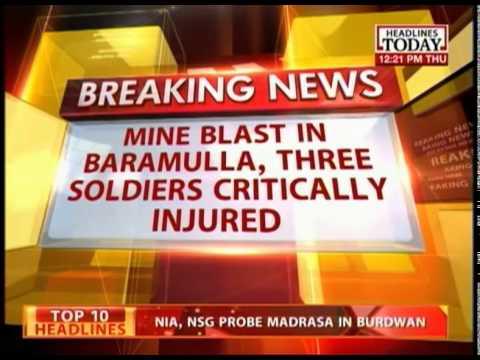 J&K: Baramulla - Kupwara Highway : IED blast injures 3 jawans
