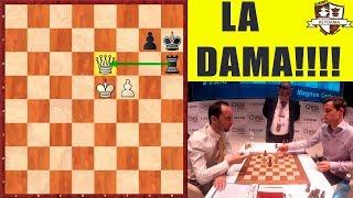 La DAMA !!!! Carlsen Vs el Líder Topalov