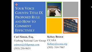Your voice counts: New Title IX draft rule on school sexual violence and how to dra