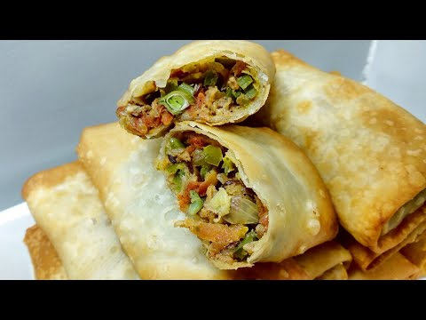 Spring Rolls Recipe | Restaurant style Spicy Spring Roll Recipe | #IndianStreetFood